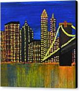 Manhattan Skyline Canvas Print by Shruti Prasad