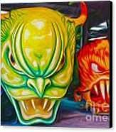Mardi Gras Devils Canvas Print by Gregory Dyer