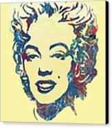 Marilyn Monroe Stylised Pop Art Drawing Sketch Poster Canvas Print by Kim Wang