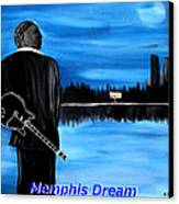 Memphis Dream With B B King Canvas Print by Mark Moore