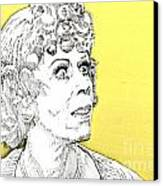 Momma On Yellow Canvas Print