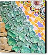 Mosaic Texture  Canvas Print by Niphon Chanthana