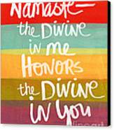 Namaste  Canvas Print by Linda Woods