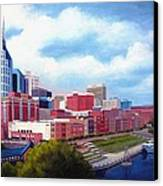 Nashville Skyline Canvas Print by Janet King
