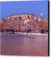 National Stadium Panorama Beijing China Canvas Print by Colin and Linda McKie