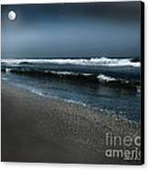 Night Beach  Canvas Print by Artist and Photographer Laura Wrede