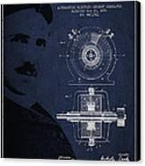 Nikola Tesla Patent From 1891 Canvas Print