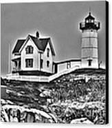 Nubble Lighthouse Cape Neddick Maine Canvas Print by Glenn Gordon