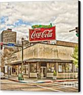 On The Corner Canvas Print by Scott Pellegrin