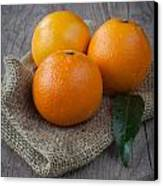Orange Fruit Canvas Print by Sabino Parente