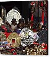 Outdoor Shop Sells Fake Chinese Antiques Canvas Print by Yali Shi