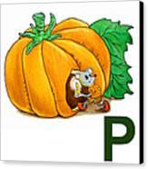 P Art Alphabet For Kids Room Canvas Print
