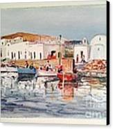 Paros-naousa Canvas Print by George Siaba