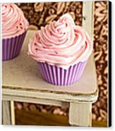 Pink Cupcakes Canvas Print by Edward Fielding