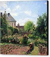 Pissarro's The Artist's Garden At Eragny Canvas Print by Cora Wandel