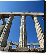 Poseidon Temple Canvas Print by George Atsametakis