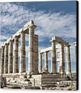 Poseidon's Temple Canvas Print