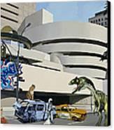 Post-nuclear Guggenheim Visit Canvas Print by Scott Listfield