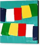 Prayer Flags Canvas Print by Linda Woods