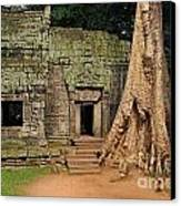 Preah Khantemple At Angkor Wat Canvas Print