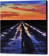 Rainy Highway Canvas Print by Benjamin Yeager