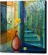 Raumirritation 29 Canvas Print by Gertrude Scheffler
