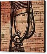 Rca 77 On Music Canvas Print by William Cauthern