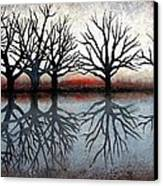 Reflecting Trees Canvas Print