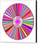Colorful Signature Art Chakra Round Mandala By Navinjoshi At Fineartamerica.com Rare Fineart Images  Canvas Print by Navin Joshi