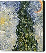 Road With Cypresses Canvas Print by Vincent Van Gogh