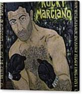 Rocky Marciano Canvas Print by Eric Cunningham