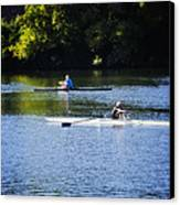 Rowing In Philadelphia Canvas Print by Bill Cannon
