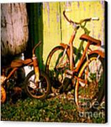 Rusty Bikes Canvas Print