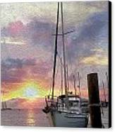 Sailboat Canvas Print by Jon Neidert