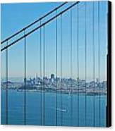 San Francisco Through Golden Gate Bridge Canvas Print by Twenty Two North Photography