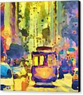 San Francisco Trams 12 Canvas Print