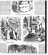 Saratoga Springs, 1859 Canvas Print