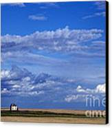 Saskatchewan Farmland Canvas Print by Mark Newman