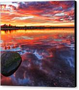 Scottish Loch At Sunset Canvas Print by John Farnan