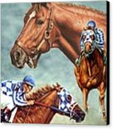 Secretariat - The Legend Canvas Print by Thomas Allen Pauly