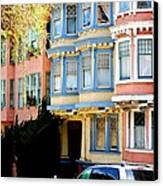 Sf Rowhouses Canvas Print by Mamie Gunning