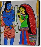 Shiv Parvati Canvas Print by Shruti Prasad