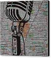 Shure 55s On Map Canvas Print by William Cauthern