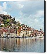 Sibenik Town On Adriatic Sea  Canvas Print
