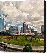 Skyline Of Charlotte Towers Canvas Print
