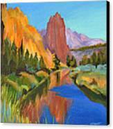 Smith Rock Canyon Canvas Print