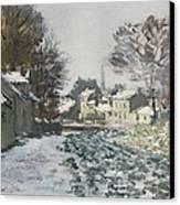 Snow At Argenteuil Canvas Print by Claude Monet