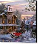 Snow Streets Canvas Print by Dominic Davison