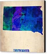 South Carolina Watercolor Map Canvas Print by Naxart Studio
