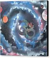 Spiral Galaxy Om Canvas Print